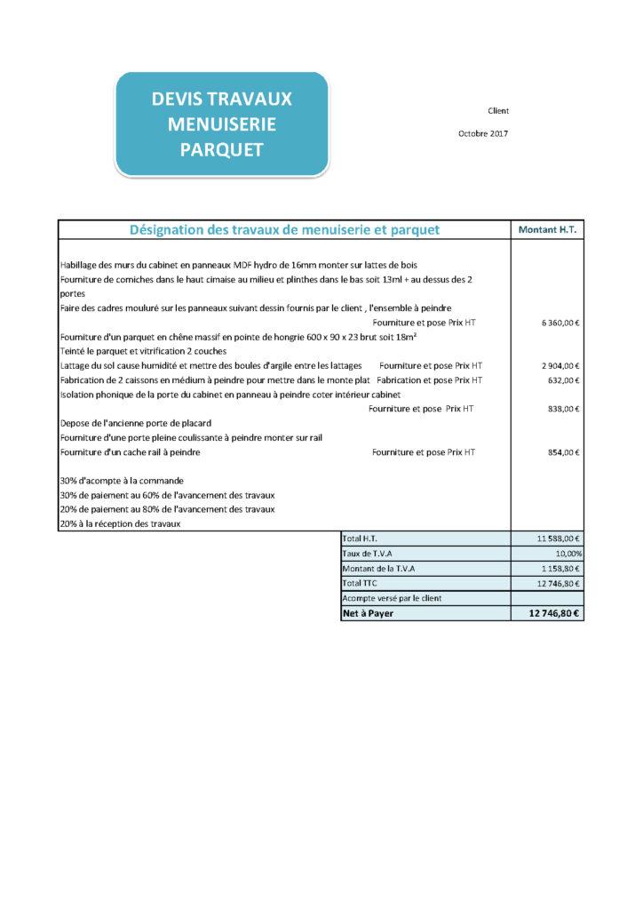 Budget travaux de parquet à Lille